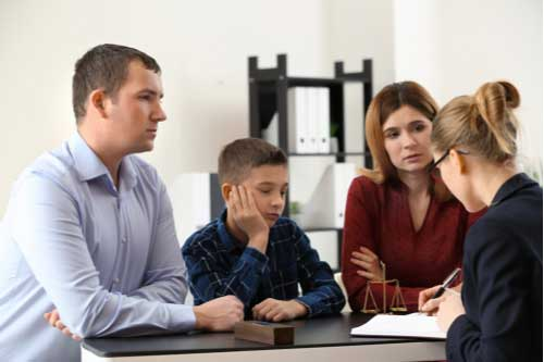 Fayetteville child custody lawyer helping divorcing couple with son create custody plan