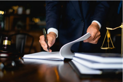 Peachtree City personal injury lawyer preparing case